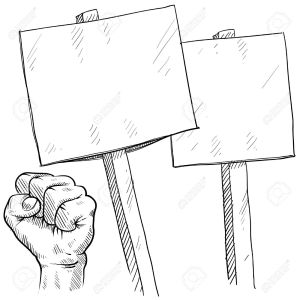 11575073-Doodle-style-picket-or-protest-illustration-in-vector-format-Stock-Illustration